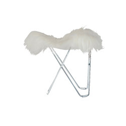 Iceland Flying Goose Shorn White Chrome Frame | Sgabelli | Cuero Design