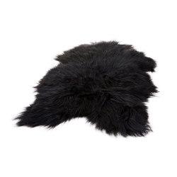 Icelandic Sheepskin Black | Tapis / Tapis de designers | Cuero Design