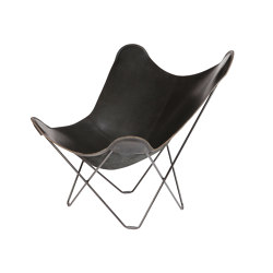 Pampa Mariposa Butterfly Chair Black Black Frame | Armchairs | Cuero Design