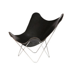 Pampa Mariposa Butterfly Chair Black Chrome Frame | Poltrone | Cuero Design