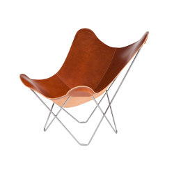 Pampa Mariposa Butterfly Chair Montana Chrome Frame | Sessel | Cuero Design