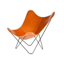 Pampa Mariposa Butterfly Chair Polo Black Frame | Poltrone | Cuero Design