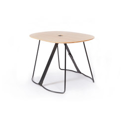 Sierra with Black Leather Strap | Side tables | Cuero Design