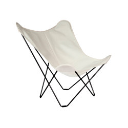 Sunshine Mariposa Butterfly Chair Oyster Black Frame | Sessel | Cuero Design