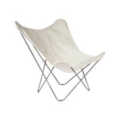 Sunshine Mariposa Butterfly Chair Oyster Black Frame | Poltrone | Cuero Design