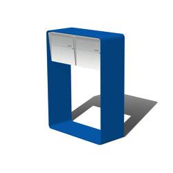 """Bellus Briefkastenständer   Design letter box """"Bellus"""", double horizontal   Mailboxes   x-level"""