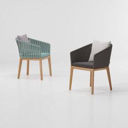 Bitta dining armchair teak legs | Armchairs | KETTAL