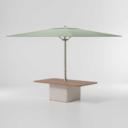 Objects Meteo Steel centre table base parasol | Parasols | KETTAL