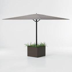 Meteo Steel planter base parasol | Parasols | KETTAL