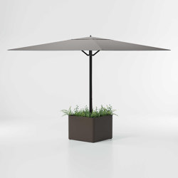 Objects Meteo Steel planter base parasol | Parasols | KETTAL