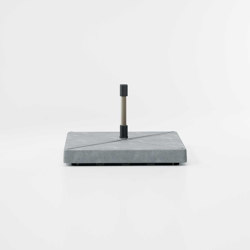 Objects Meteo umbrella concrete base | Parasol bases | KETTAL