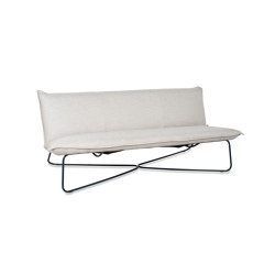 Earl outdoor 3 seats ral white/grey/black | Benches | Jess