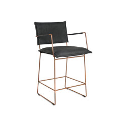 Norman barstool copper with arms | Stühle | Jess