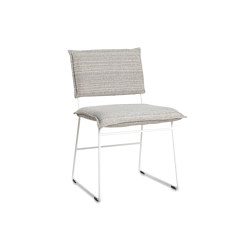 Norman outdoor dining chair ral white/grey/black without arms | Sedie | Jess