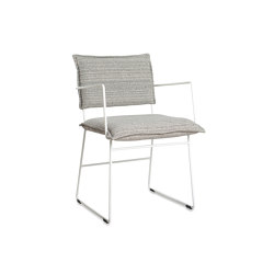 Norman outdoor dining chair ral white/grey/black with arms | Chairs | Jess