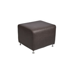 Pinas footrest brushed stainless steel | Poufs | Jess