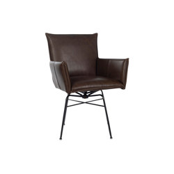Sanne Old Glory with arms and swivel base | Chaises | Jess