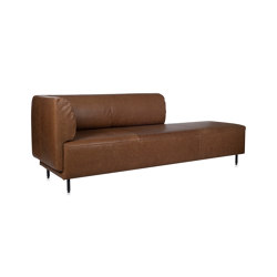 Tray chaisse longue with 1 low arm | Chaise Longues | Jess
