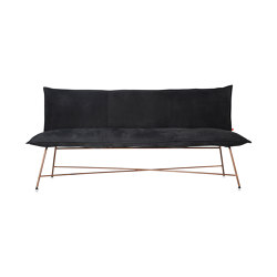 Vidar with back rest copper 3 seats | Sitzbänke | Jess