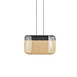 Bamboo Oval | Pendant Lamp | S Black | Suspended lights | Forestier