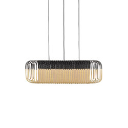 Bamboo Oval | Pendant Lamp | M Black | Suspended lights | Forestier