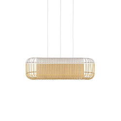 Bamboo Oval | Pendant Lamp | L White | Suspended lights | Forestier