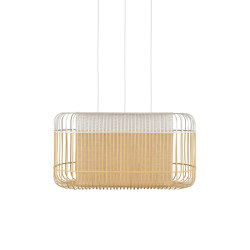 Bamboo Oval | Pendant Lamp | Xl White | Suspended lights | Forestier