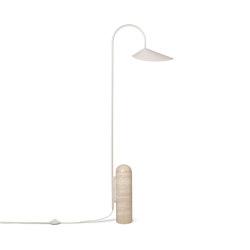 Arum Floor Lamp - Beige & Travertine | Free-standing lights | ferm LIVING