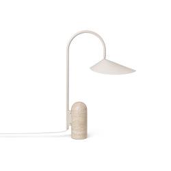 Arum Table Lamp - Beige & Travertine | Table lights | ferm LIVING