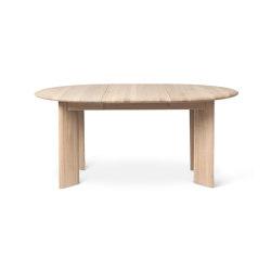 Bevel Table - Extendable x1 - White Oiled Oak | Dining tables | ferm LIVING