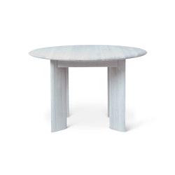 Bevel Table - Round - Ø117 - Ice Blue Oiled Oak   Esstische   ferm LIVING