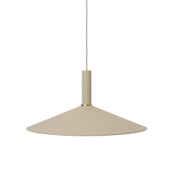 Socket Pendant High - Cashmere | Angle Shade - Cashmere | Suspended lights | ferm LIVING