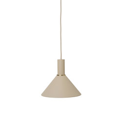 Socket Pendant Low - Cashmere | Cone Shade - Cashmere | Suspended lights | ferm LIVING