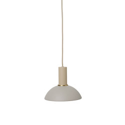 Socket Pendant Low - Cashmere | Hoop Shade - Light Grey | Suspended lights | ferm LIVING