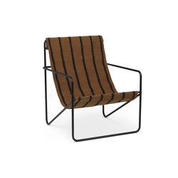 Desert Chair - Black/Stripe | Sillones | ferm LIVING