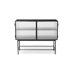 Haze Sideboard - Black & Wired Glass | Vitrinen | ferm LIVING
