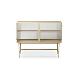 Haze Sideboard - Cashmere & Reeded Glass | Vitrinen | ferm LIVING