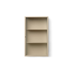 Haze Wall cabinet - Cashmere & Reeded Glass | Wall cabinets | ferm LIVING