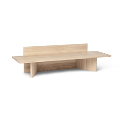 Oblique Bench - Natural Oak | Tables d'appoint | ferm LIVING