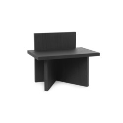 Oblique Stool - Black Stained Ash | Side tables | ferm LIVING