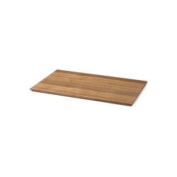 Tray for Plant Box Large/Low - Wood - Smoked |  | ferm LIVING