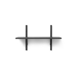 Sector Shelf S/N - Black Ash - Black Brass | Étagères | ferm LIVING