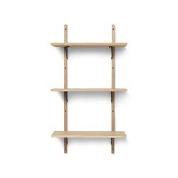 Sector Shelf T/N - Oak - Black Brass | Regale | ferm LIVING