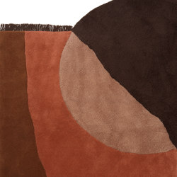 View Tufted Rug - Red Brown | Formatteppiche | ferm LIVING