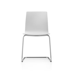 Fiore MicroSilver cantilever chair | Chairs | Dauphin