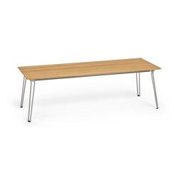 Slope Table, 240 x 90, Tabletop Teak | Tavoli pranzo | Weishäupl