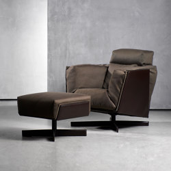 HEIT swivel chair & ottoman | Sessel | Piet Boon