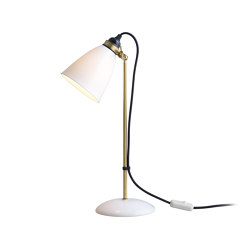 Hector 30 Table Light, Satin Brass with Black Braided Cable | Table lights | Original BTC