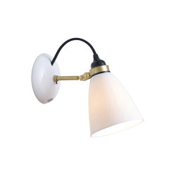 Hector 30 Wall Light, Satin Brass with Black Braided Cable | Wall lights | Original BTC