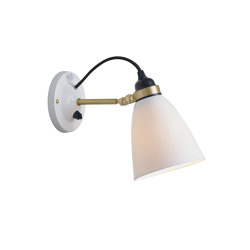 Hector 30 Wall Switched, Satin Brass with Black Braided Cable | Wall lights | Original BTC